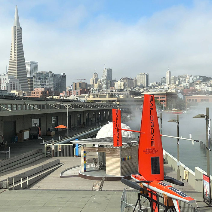 Saildrone at the Exploratorium for Ocean Discovery Month