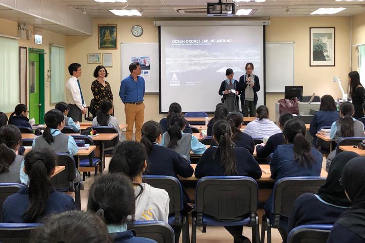 Saildrone Antarctic mission Hong Kong school visit