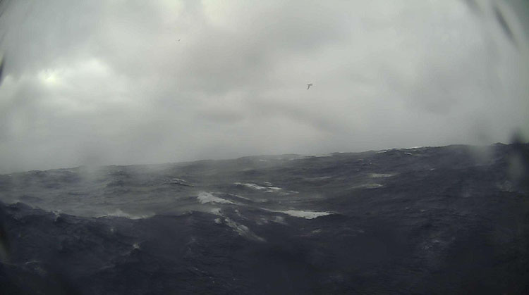 Stormy sea waves Saildrone cam