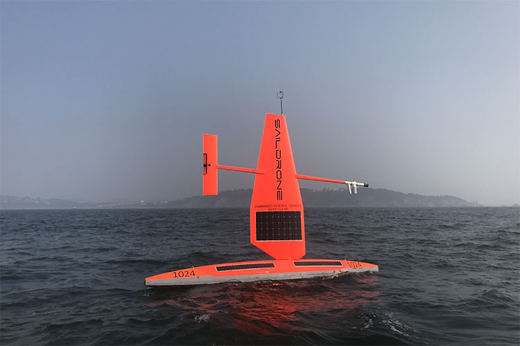 Saildrone ocean bathymetry