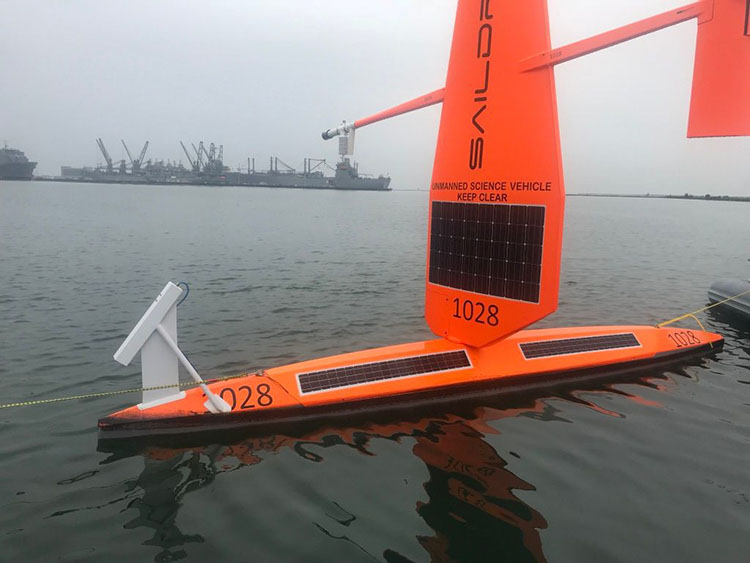 Saildrone with ROW sensor
