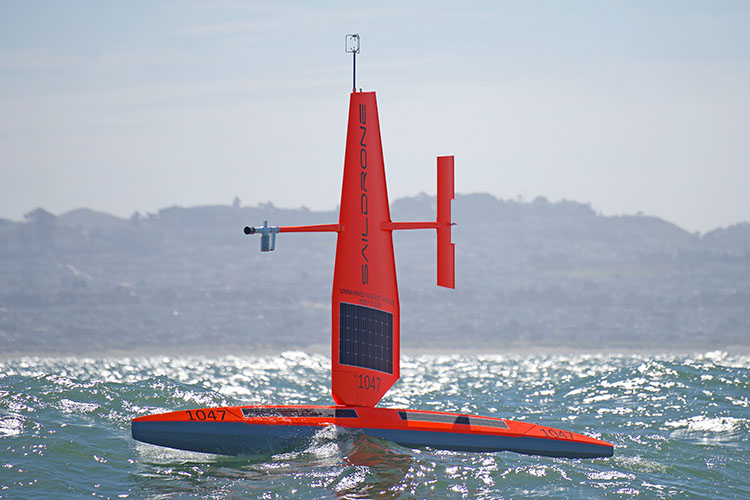 Saildrone sailing San Francisco