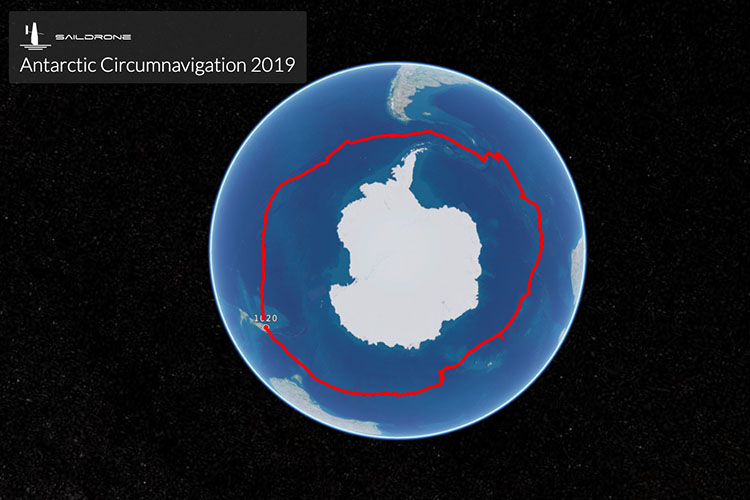 2019 Saildrone Antarctic Circumnavigation mission track