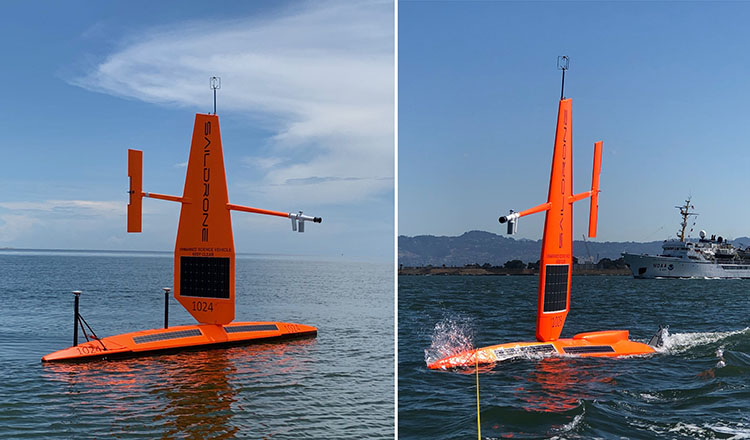 "Saildrone ""surveyor"" and ""profiler"" multibeam bathymetry vehicles"