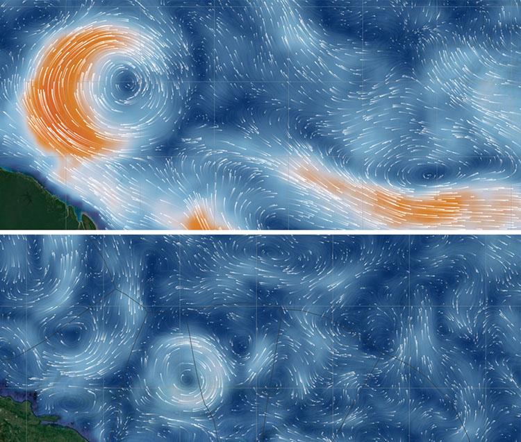 Ocean eddies in Saildrone Forecast
