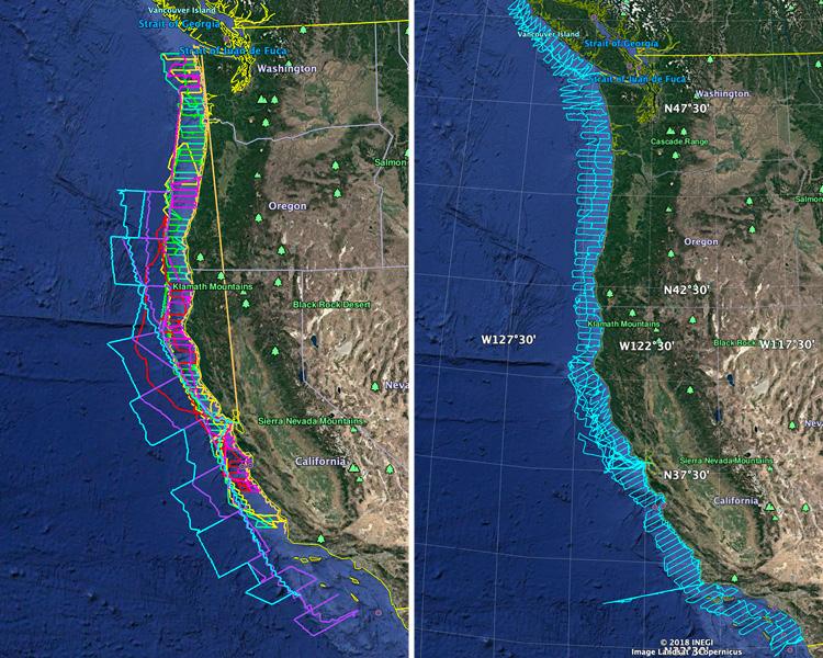 Saildrone mission track NOAA Fisheries West Coast Surveys