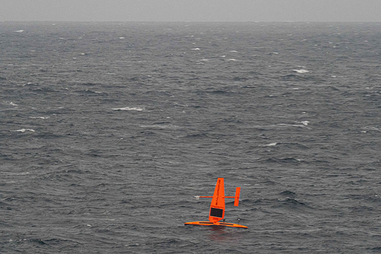 Saildrone from USCGC Healy.