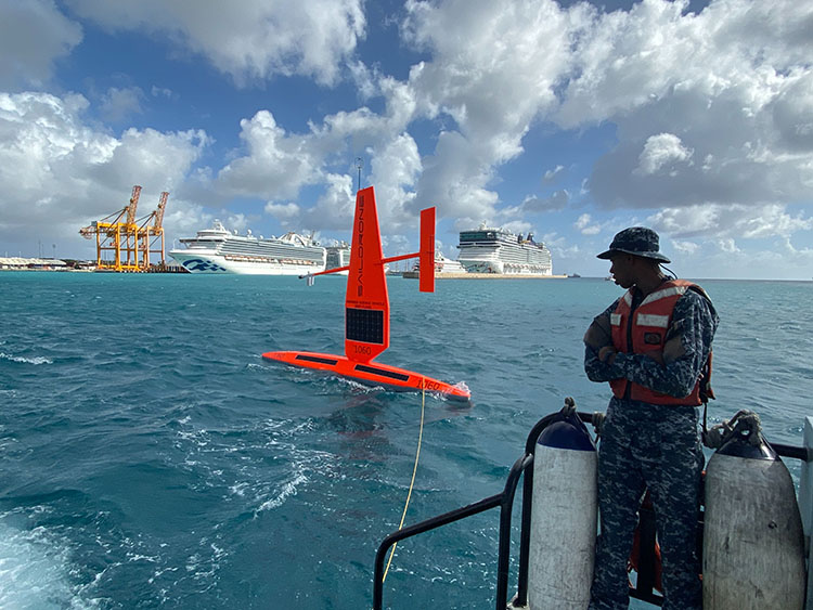 Saildrone deployment Barbados