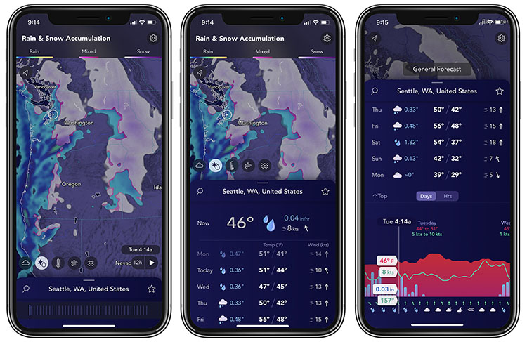 Saildrone Forecast weather map views