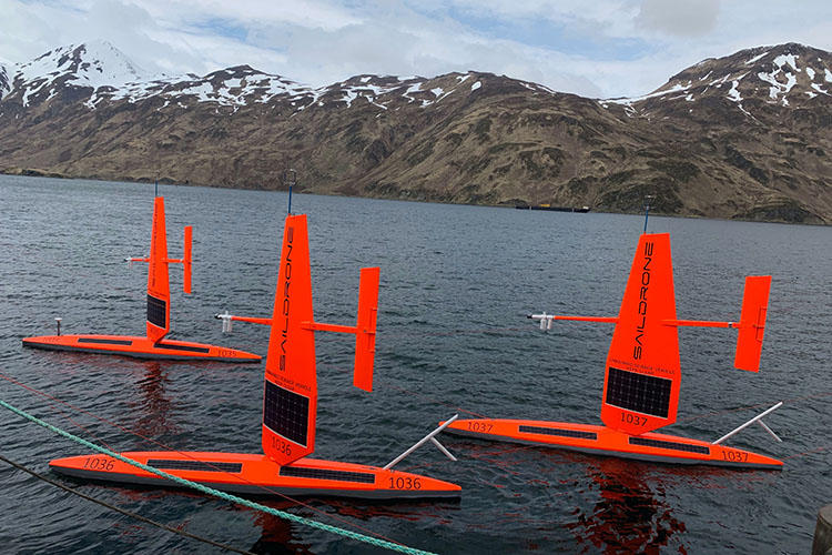 Saildrones equipped with IR pyrometers