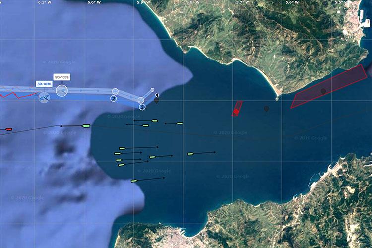 Traffic in the Strait of Gibraltar