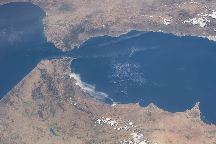 The Strait of Gibraltar from the International Space Station