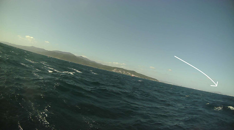 Saildrone cam photo of Rock of Gibraltar