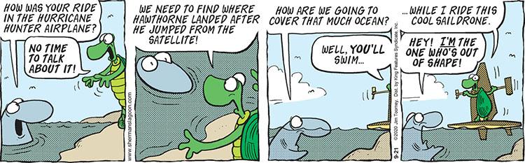 Sherman's Lagoon comic strip September 21, 2020