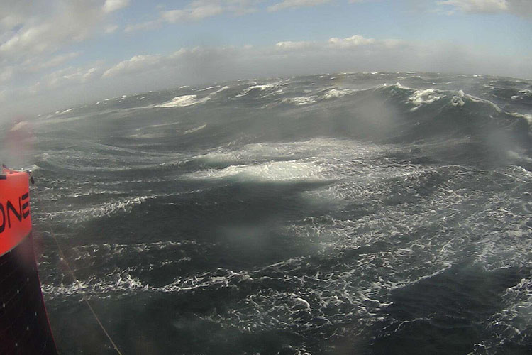 View of the Southern Ocean from a saildrone onboard camera
