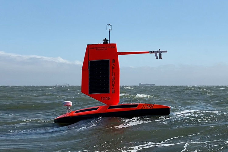 """Saildrone Explorer equipped with a """"hurricane wing"""""""
