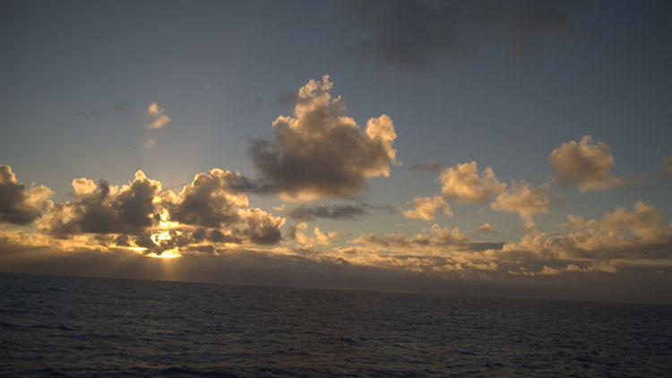 Sunset over Oahu