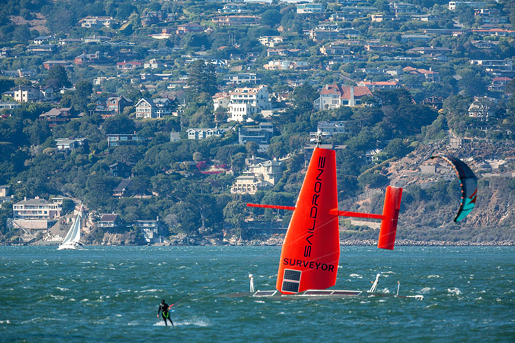 Surveyor and windsurfer
