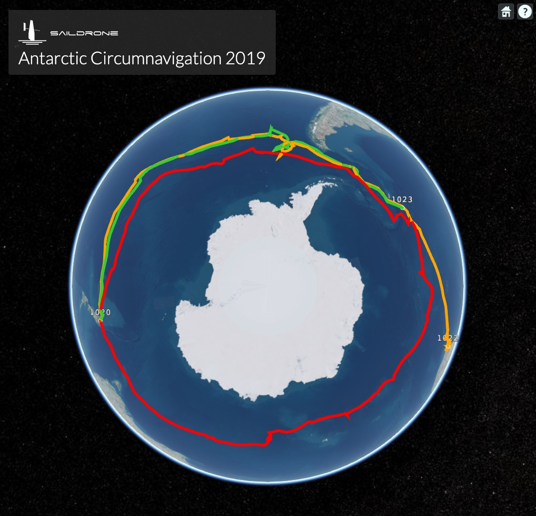 Saildrone data collected in Antarctica