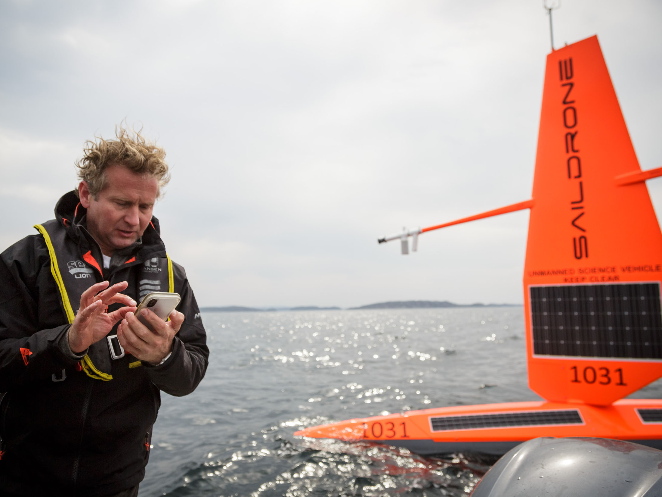 Saildrone founder & CEO Richard Jenkins deploys saildrone