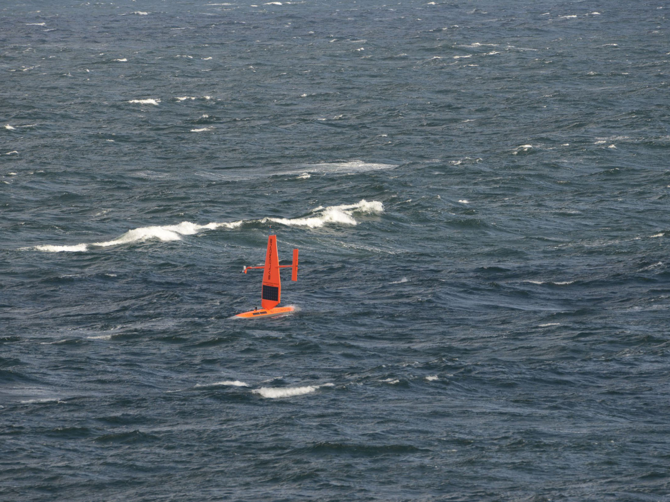Saildrone surveying in the Arctic