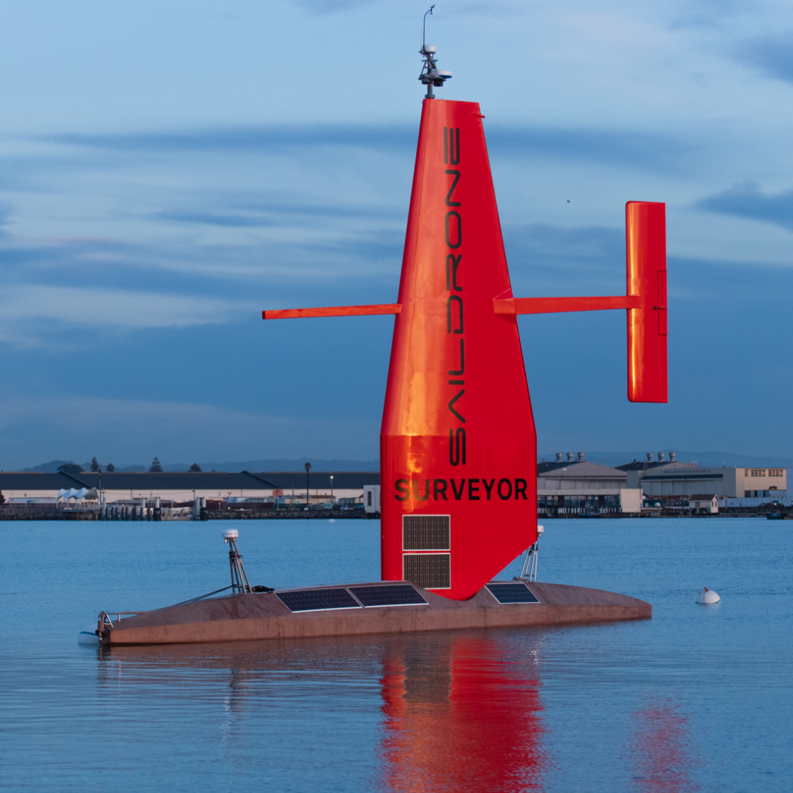 Saildrone Surveyor 72 foot autonomous vehicle