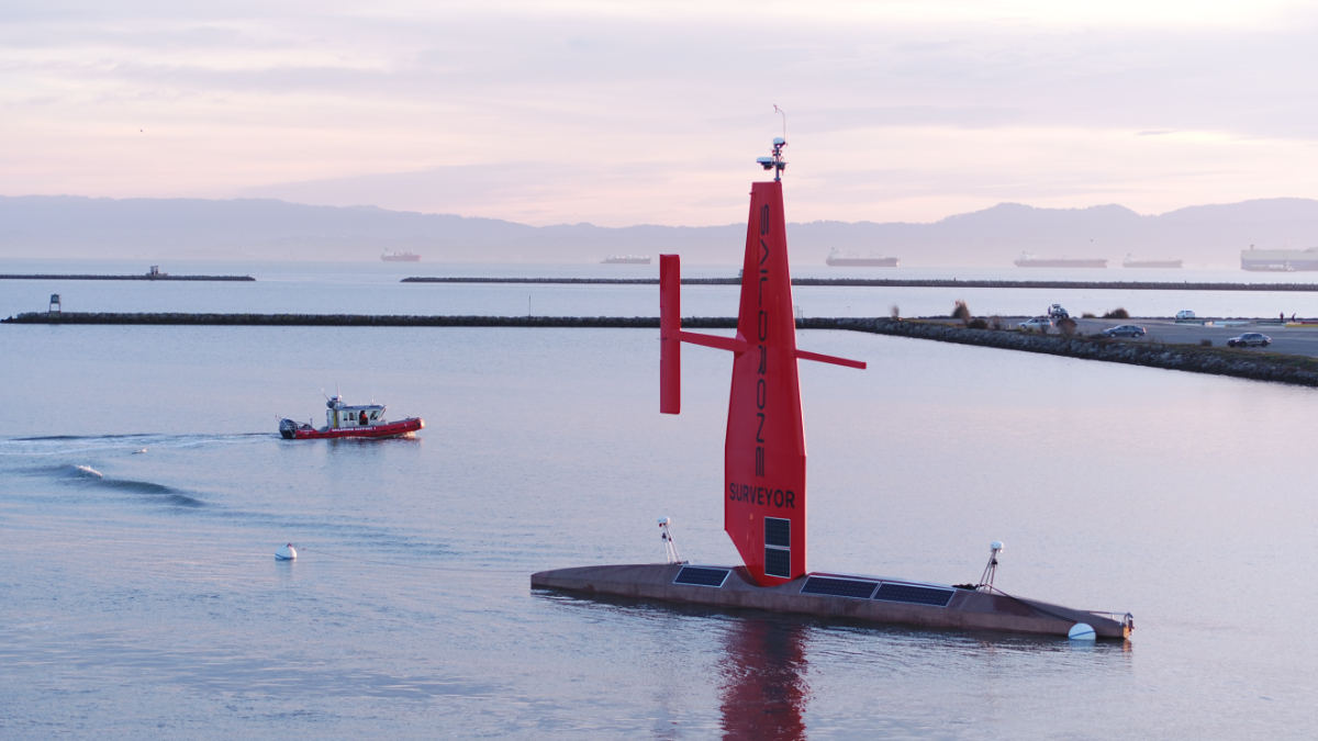 Saildrone Surveyor in Seaplane Lagoon