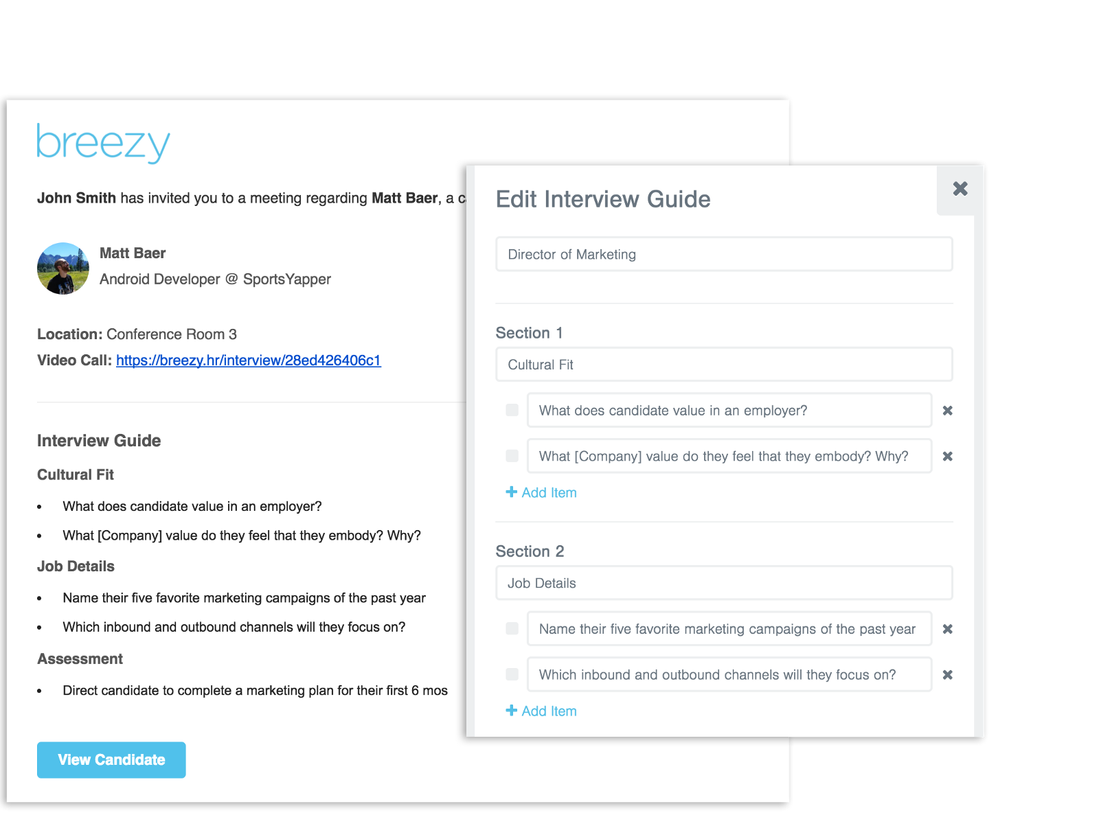 breezy interview guide