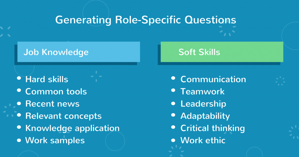 role specific questions