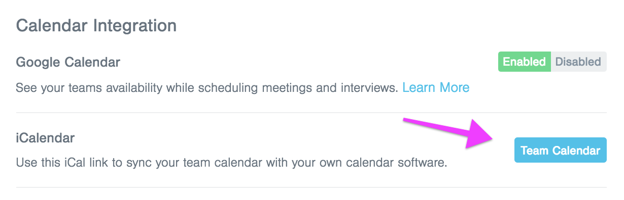 breezy calendar integration