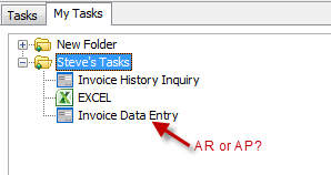 Assigning accounts receivable or payable in Sage 100 tasks