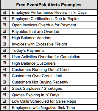 example table of alert examples