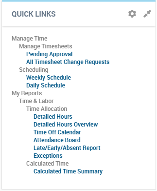 Kronos workforce ready employee quick links
