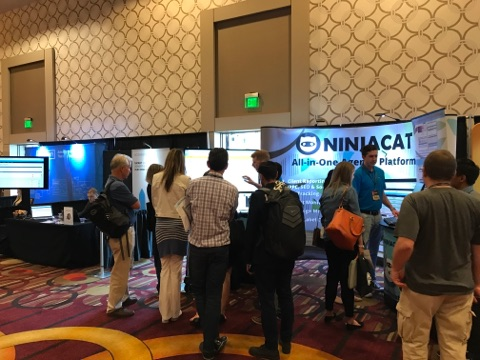 So many people stopped by the NinjaCat booth at HeroConf 2017