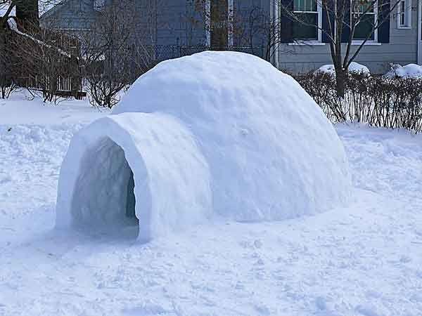 build an igloo