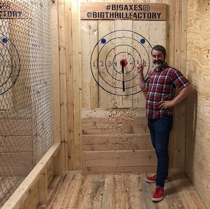 axe throwing group activity