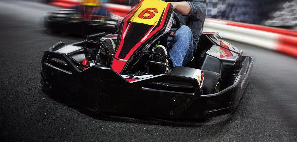go kart action shot