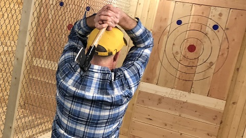 Yes Axe Throwing The Fun Lumberjack Inspired Activity Thats Taking World By Storm Is Perfect Adult Birthday Party Treat