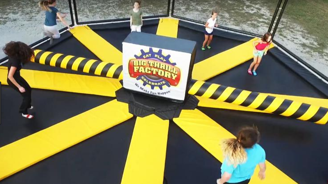 wipeout trampoline