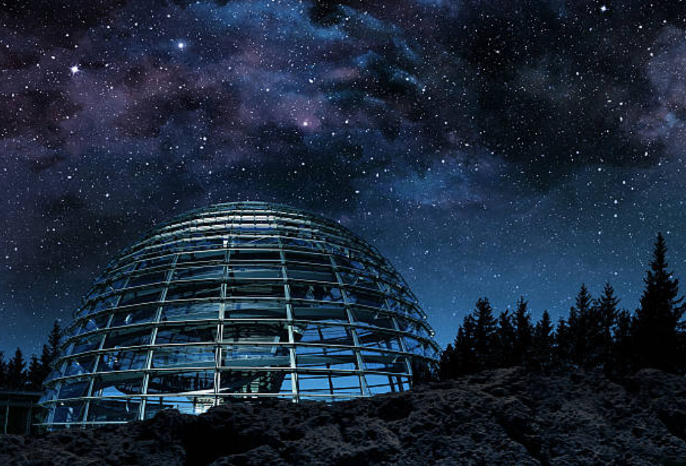 planetarium with night sky