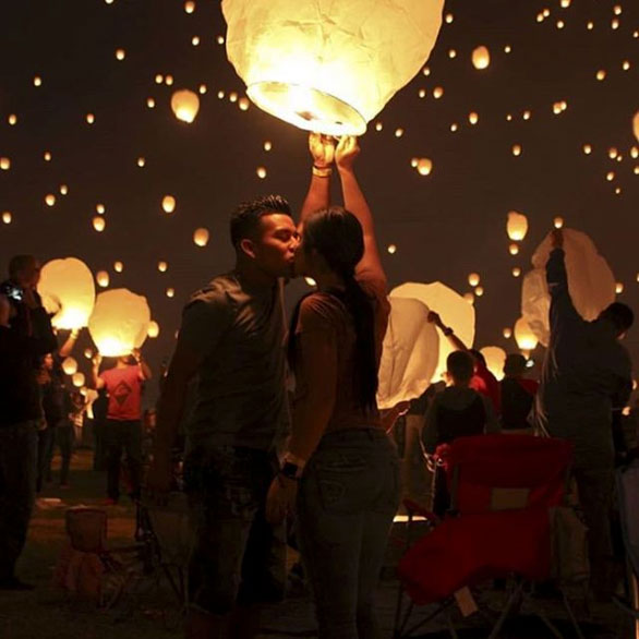 Night Lights A Sky Lantern Festival