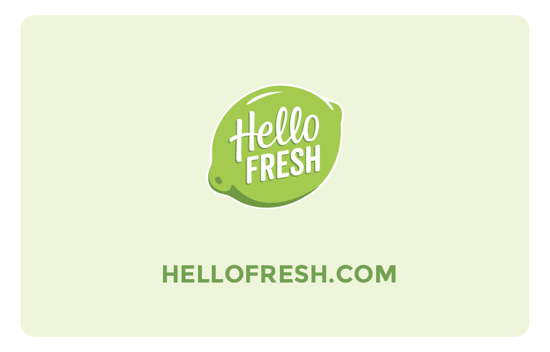 HelloFresh gfit card
