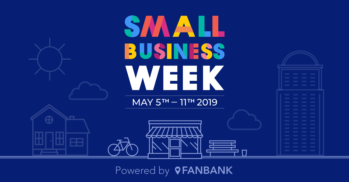 Fanbank small business week - dark - social graphic
