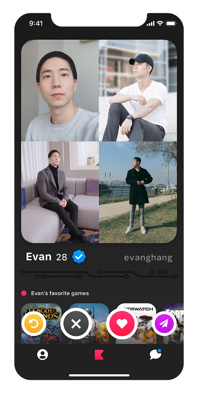 Evan's profile screenshot