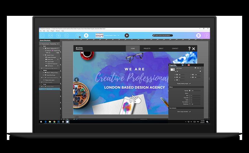 build interactive touchscreen apps