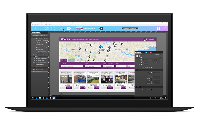 build interactive touchscreen apps for real estate