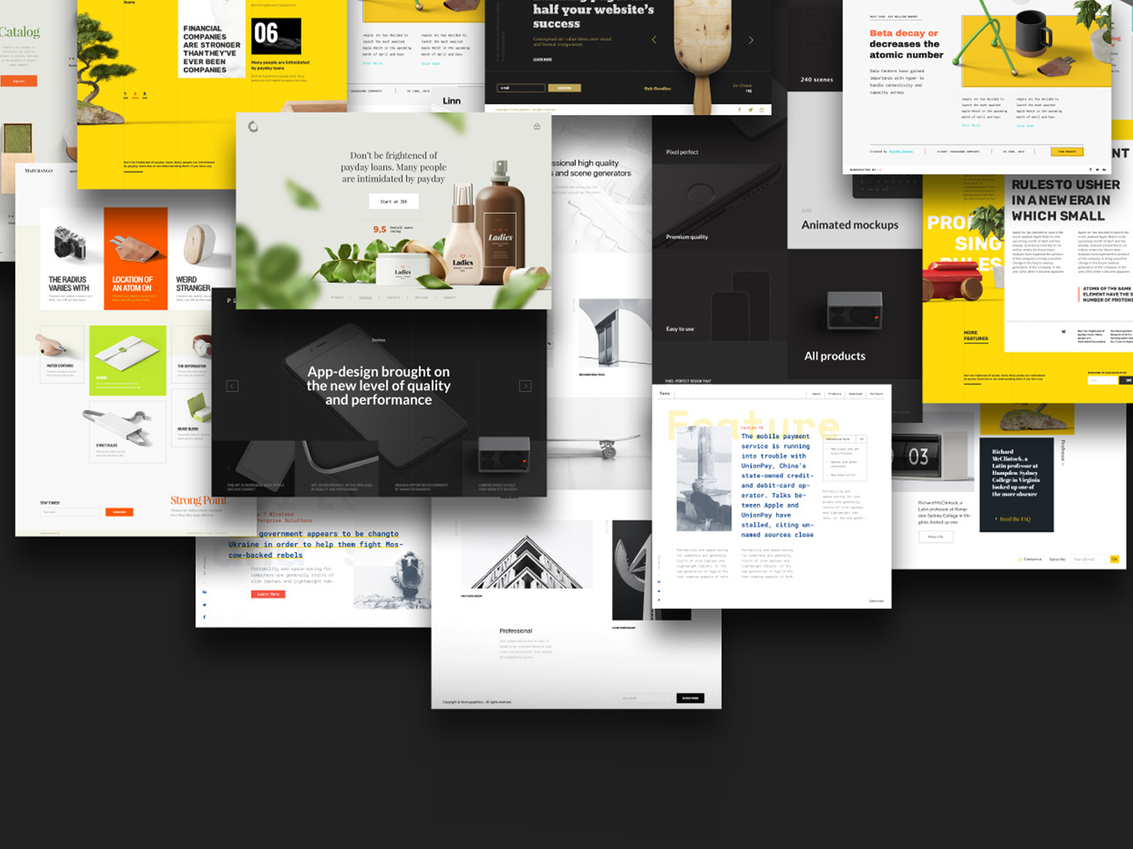 Collection of sites concepts in various styles with templates, style-guides and a huge layout library