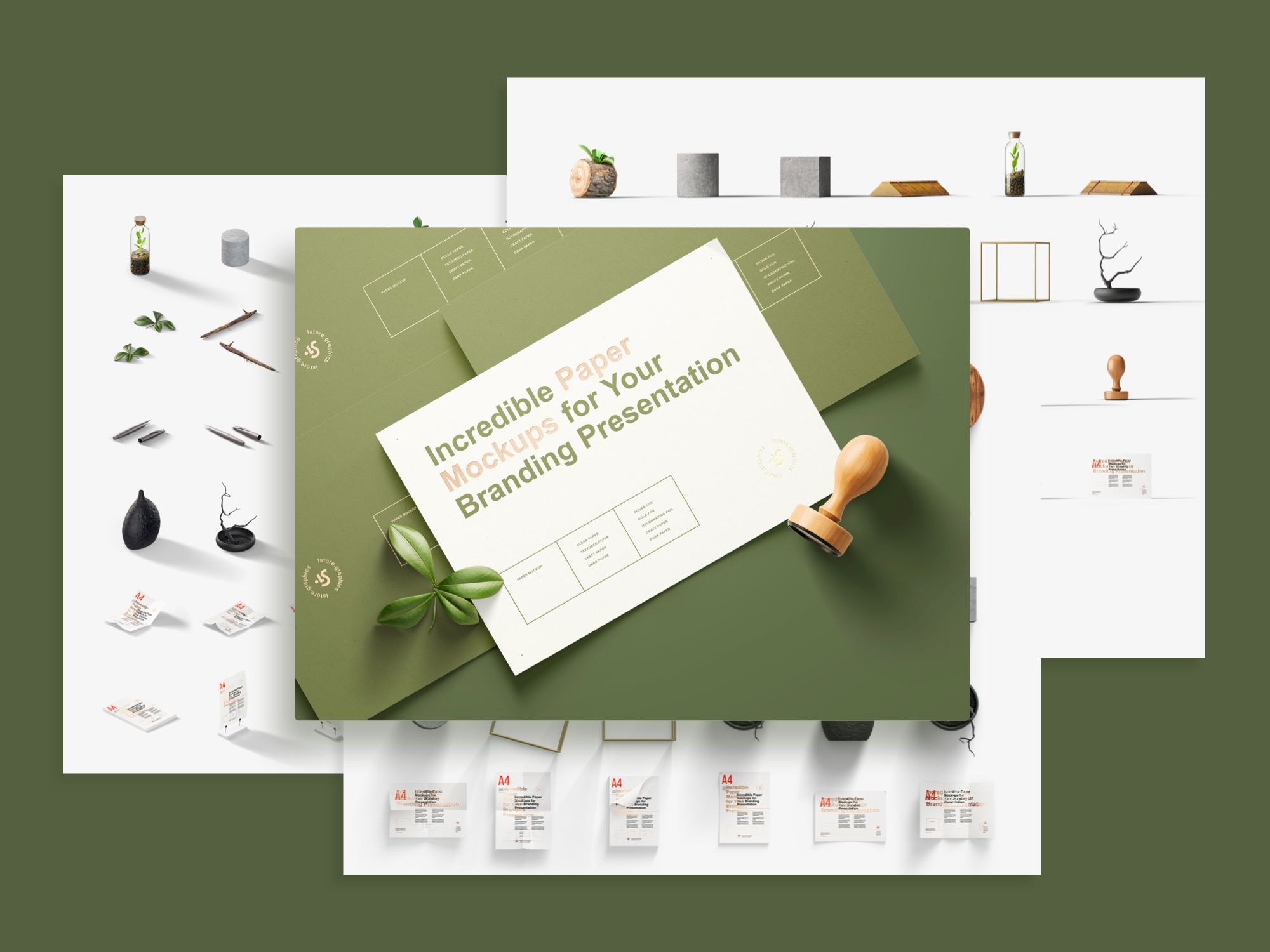 Three scene creators, live mockups, angled scenes, awesome mockup bundle