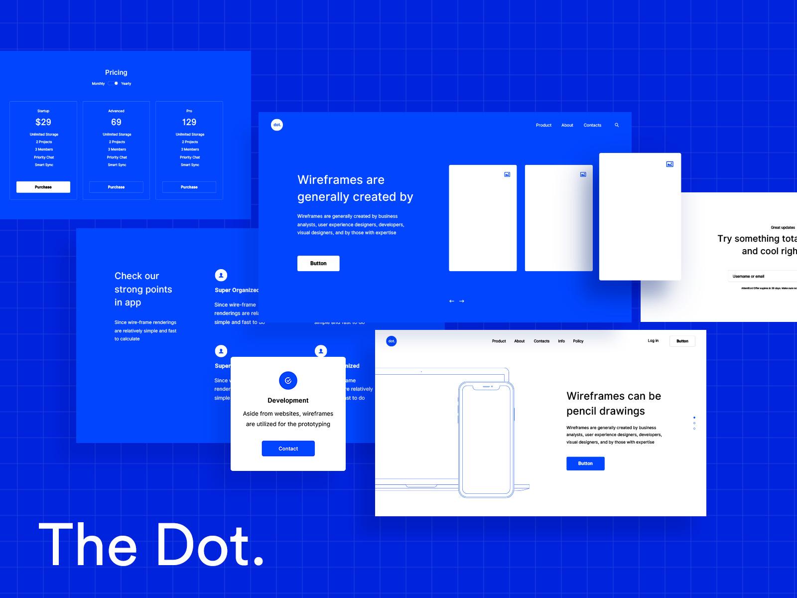 UI kit, dashboard, sketch