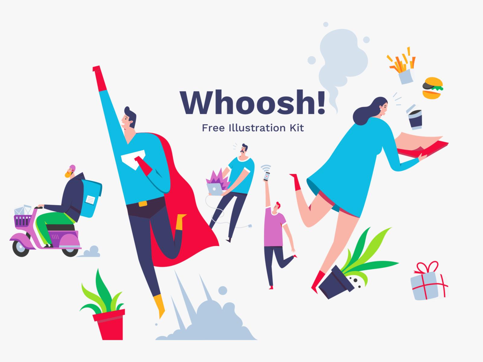 Whoosh! Illustration Kit